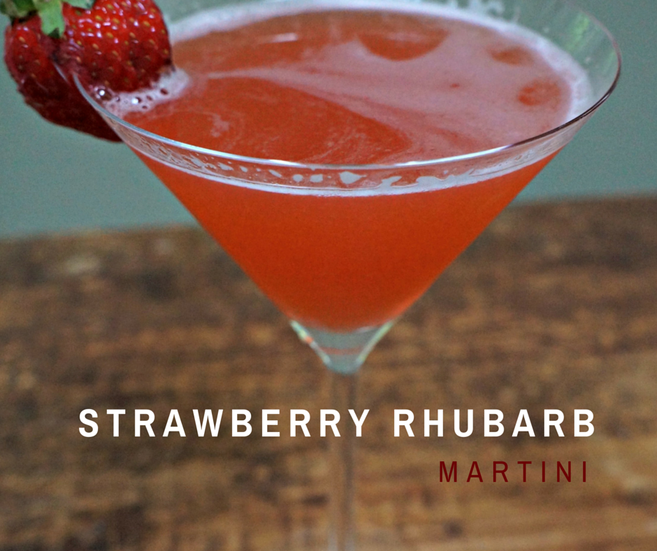 Strawberry Rhubarb Martini